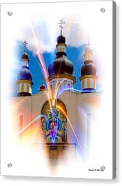 Holy Trinity Cathedral  Acrylic Print by Madeline  Allen - SmudgeArt