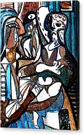 Homage To Digital Picasso Acrylic Print