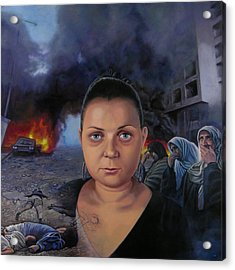 Homage To Layal Nagib Acrylic Print by Miguel Tio