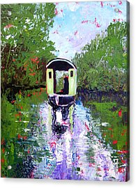 Homage To Monet Acrylic Print by Paul Sandilands