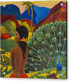 Homage To Paul Gauguin Acrylic Print