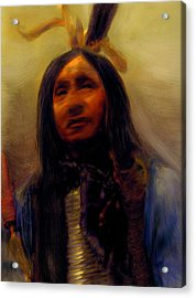 Acrylic Print featuring the painting Homage To The Ancient Ones by FeatherStone Studio Julie A Miller