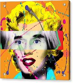 Homage To Warhol Acrylic Print by Gary Grayson