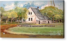 Acrylic Print featuring the painting Home Again by Linda Shackelford