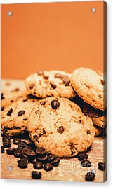 Home Baked Chocolate Biscuits Acrylic Print by Jorgo Photography - Wall Art Gallery