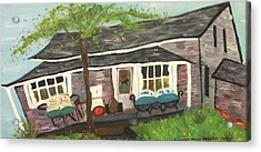 Home In Feeding Hills Mass Part 1 Acrylic Print by Suzanne  Marie Leclair