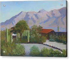 Home In The Catalinas Acrylic Print by Susan Woodward