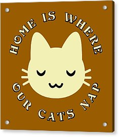 Home Is Where Our Cats Nap Acrylic Print by David G Paul