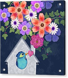 Home Is Where You Bloom Acrylic Print