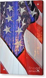 Acrylic Print featuring the photograph Home Of The Free by Gina Savage