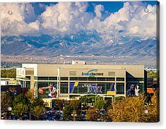 Home Of The Utah Jazz Acrylic Print by TL  Mair