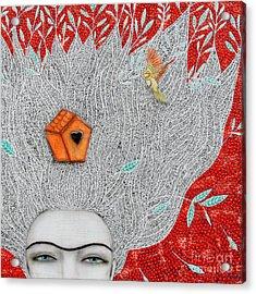 Home On My Mind Acrylic Print by Natalie Briney