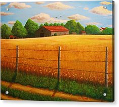 Home On The Farm Acrylic Print by Gene Gregory
