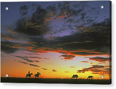 Home On The Range Acrylic Print by Carl Purcell