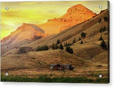 Home On The Range In Antelope Oregon Acrylic Print by David Gn