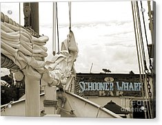 Home On The Wharf-blue-original Acrylic Print