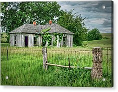 Home Place - Farmhouse - Kansas Acrylic Print by Nikolyn McDonald