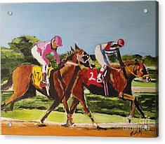 Acrylic Print featuring the painting Home Stretch by Judy Kay