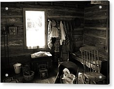 Acrylic Print featuring the photograph Home Sweet Home Bedroom by Joanne Coyle