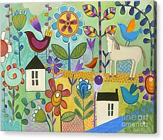 Acrylic Print featuring the painting Home Sweet Home by Carla Bank