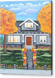 Home Sweet Home - Comes Autumn Acrylic Print