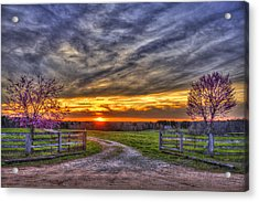 Home Sweet Home Lick Skillet Road Sunset Acrylic Print by Reid Callaway