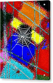 Home Sweet Spider Home Acrylic Print by Mimo Krouzian