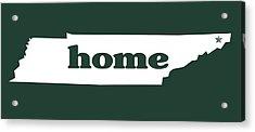 home TN on Green Acrylic Print by Heather Applegate