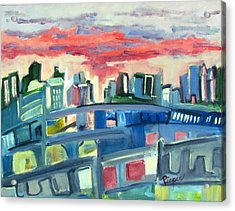 Home To The Softer Side Of City Acrylic Print by Betty Pieper