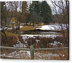 Acrylic Print featuring the photograph Home With Pond by Tammy Sutherland