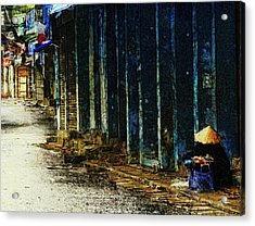 Homeless In Hanoi Acrylic Print