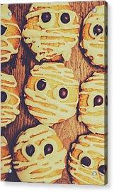 Homemade Mummy Cookies Acrylic Print by Jorgo Photography - Wall Art Gallery
