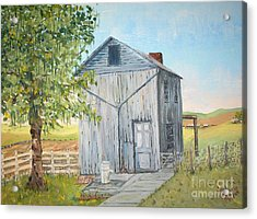 Homeplace - The Washhouse Acrylic Print by Judith Espinoza