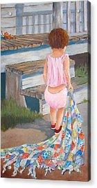 Homespun Annie Acrylic Print