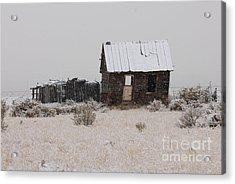 Homestead In Winter - Circa 1856 Acrylic Print by Dennis Hammer