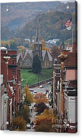Acrylic Print featuring the photograph My Hometown Cumberland, Maryland by Eric Liller