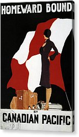 Homeward Bound - Canadian Pacific - Retro Travel Poster - Vintage Poster Acrylic Print