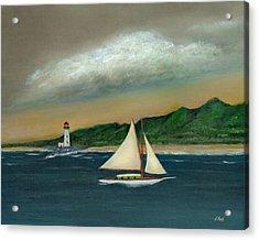 Homeward Acrylic Print by Gordon Beck