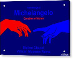 Hommage A Michelangelo  Acrylic Print by Asbjorn Lonvig