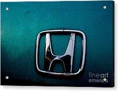 Honda Civic Hood Badge - Img4514 Acrylic Print by Wingsdomain Art and Photography