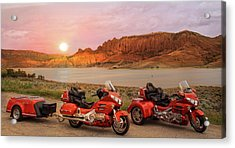 Acrylic Print featuring the photograph Honda Goldwing Bike Trike And Trailer by Patti Deters