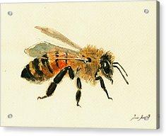 Honey Bee Painting Acrylic Print