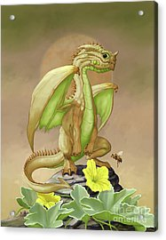 Acrylic Print featuring the digital art Honey Dew Dragon by Stanley Morrison
