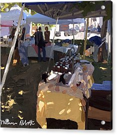 Honey Tent At Farmer's Market Acrylic Print