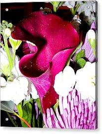 Honeybee Heaven Acrylic Print by Leslie Revels