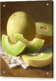 Honeydew Melons Acrylic Print by Robert Papp