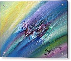 Honeymoon Bliss - C Acrylic Print by Brenda Basham Dothage