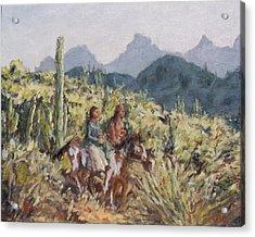 Honeymoon Trail Acrylic Print by Gretchen Price