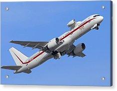 Honeywell 757 Engine Testbed N757hw Acrylic Print by Brian Lockett