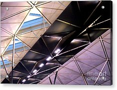 Acrylic Print featuring the photograph Hong Kong Airport by Randall Weidner